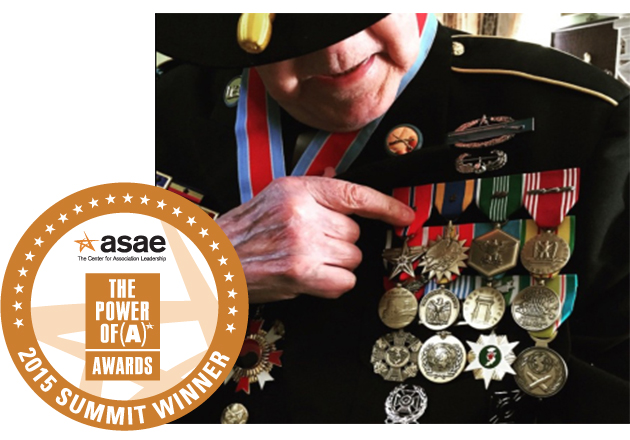 We Honor Veterans program recognized with ASAE Summit Award