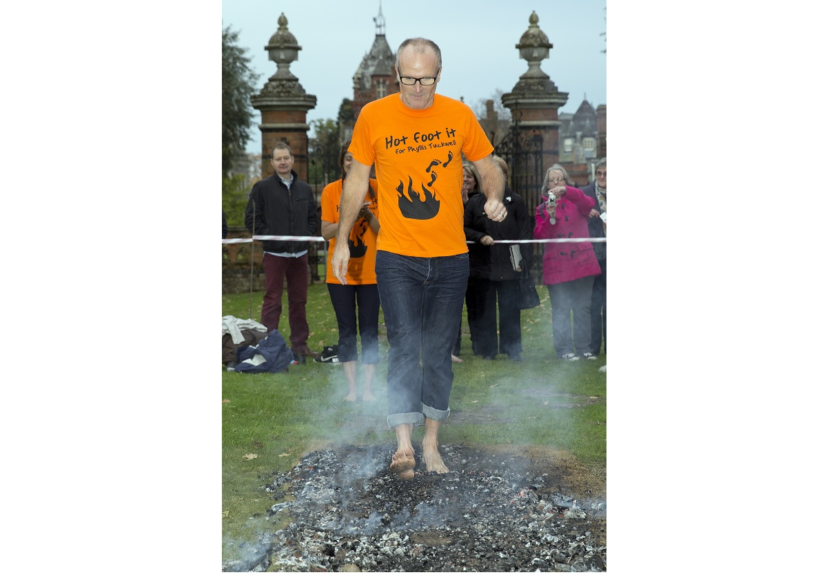Fundraisers to walk on hot coals for hospice challenge