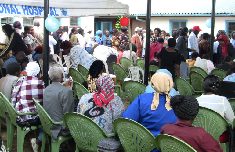 Christmas party for Nairobi Hospice patients