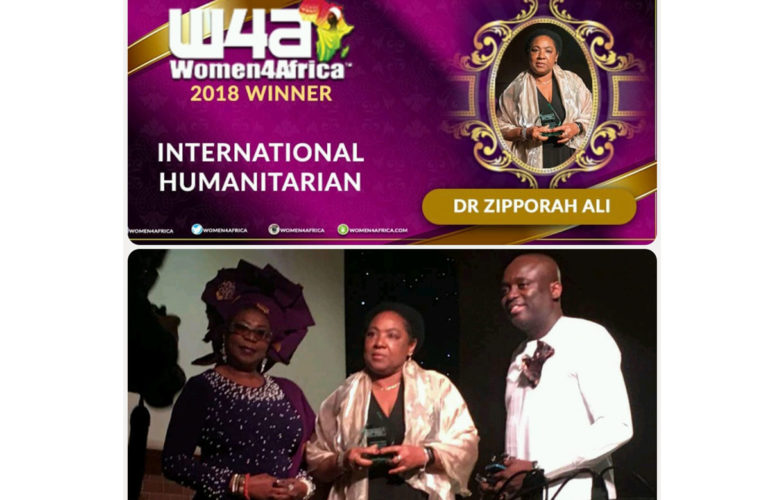 Dr. Zipporah Ali awarded 2018 Women4Africa Humanitarian Award