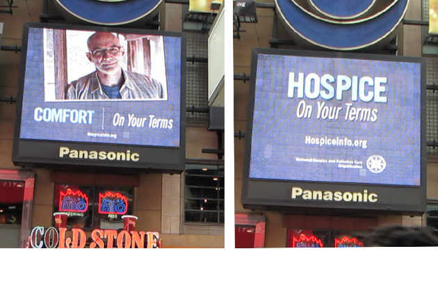 Hospice Comes to Times Square