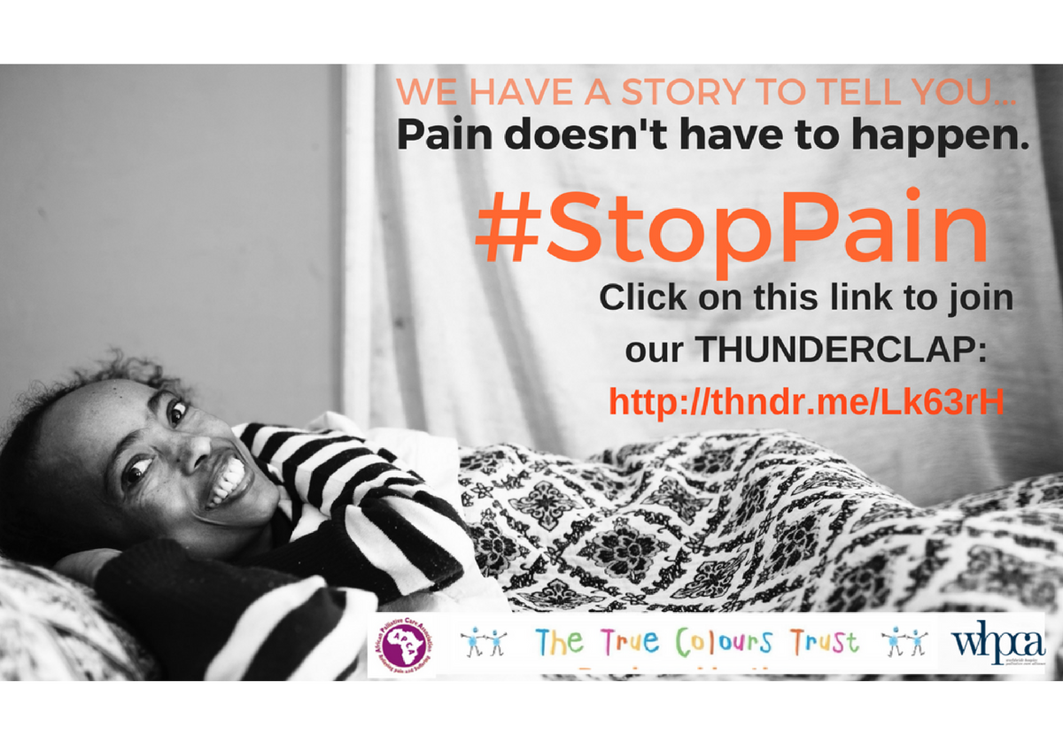 """Sign up to """"Pain doesn't have to Happen"""" Thunderclap campaign."""