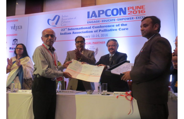 Pallium India receives award for excellence and leadership in palliative care