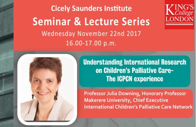 Seminar: Understanding research on Children's Palliative Care – The ICPCN Experience