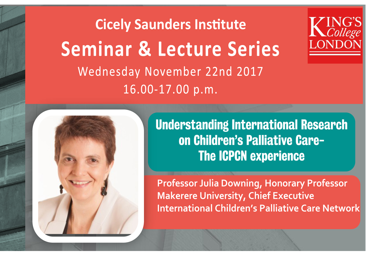 Seminar: Understanding research on Children's Palliative Care - The ICPCN Experience