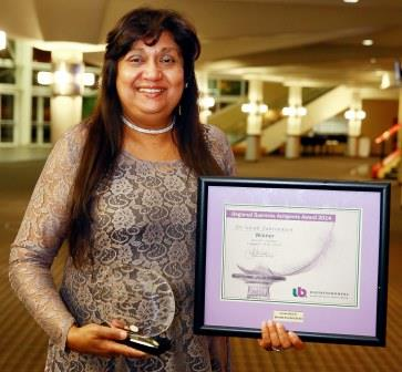 Dr Sarah Fakroodeen wins BWA Professional Category Woman of the Year  Award