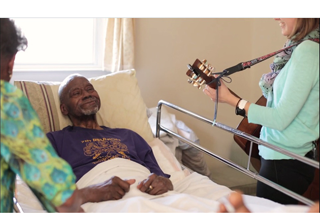Music therapy helps hospice patients and families