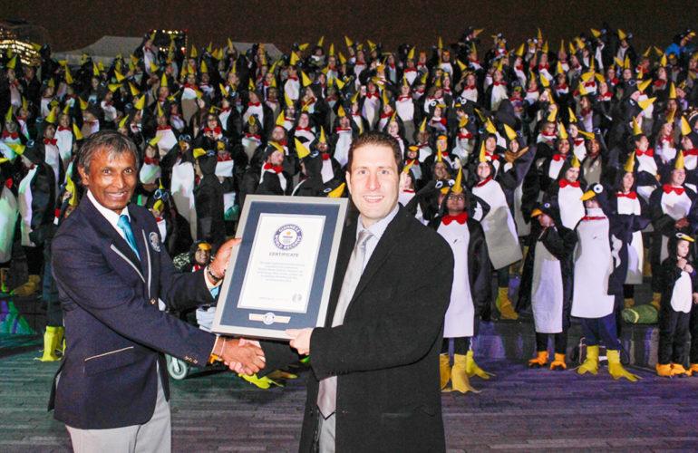 624 'Penguins' set new Guinness World Record for Richard House