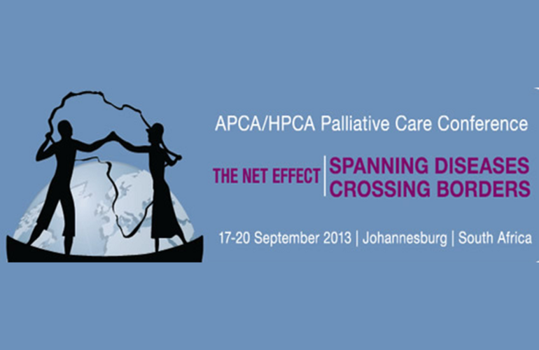APCA/HPCA conference– The Net Effect:  Spanning Diseases Crossing Borders