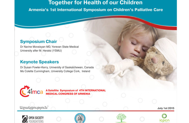 Armenia to hold its first international symposium on Children's Palliative Care