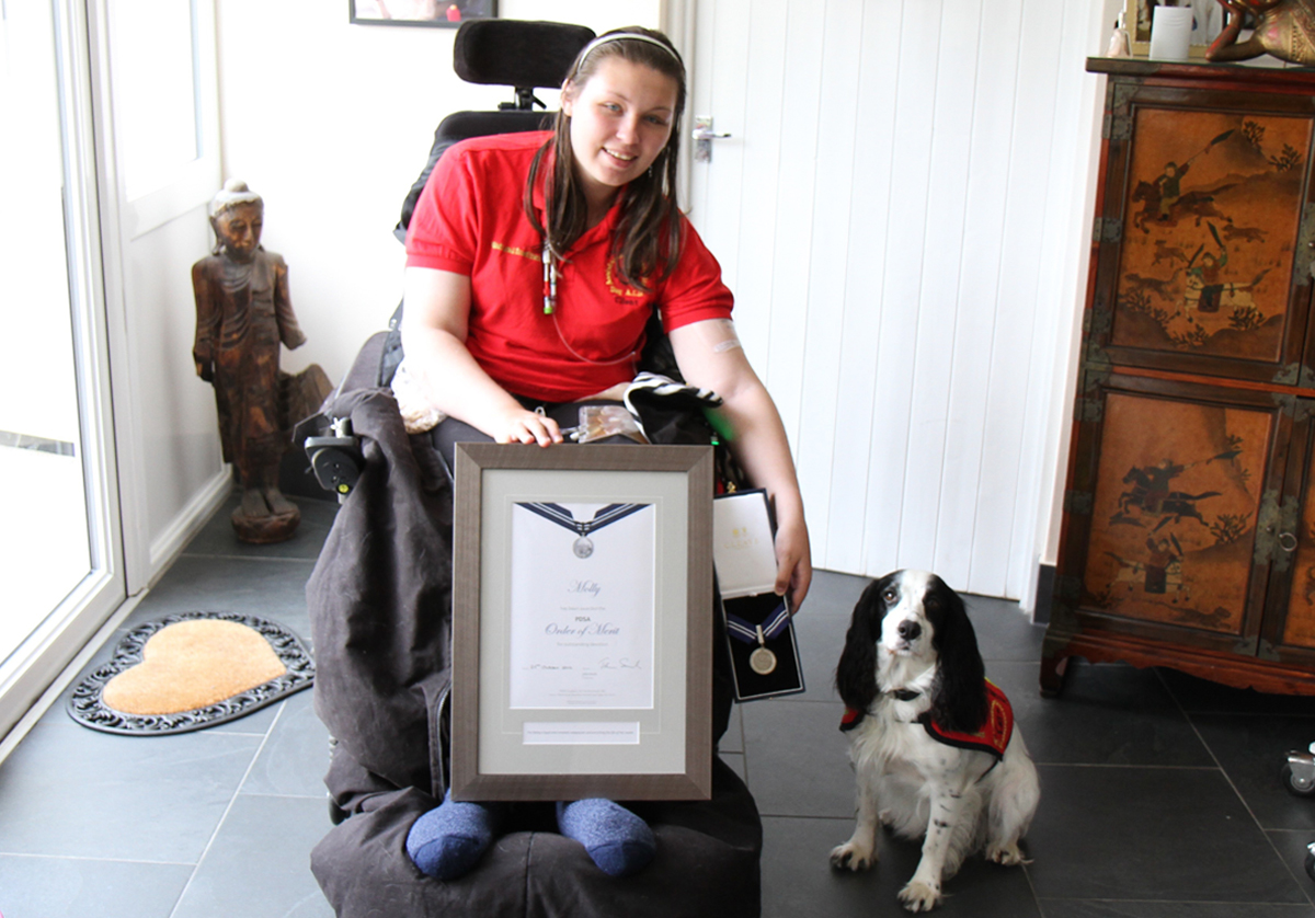 Assistance dog, Molly, awarded animal OBE