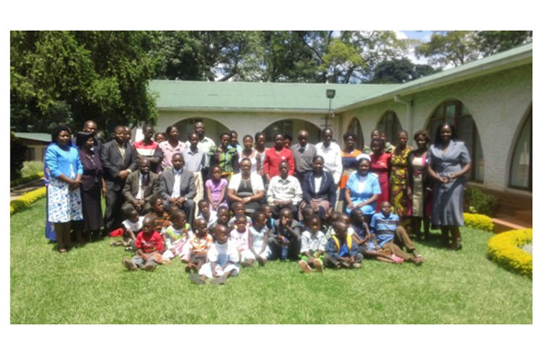 Ground breaking meeting between children and government minister in Malawi