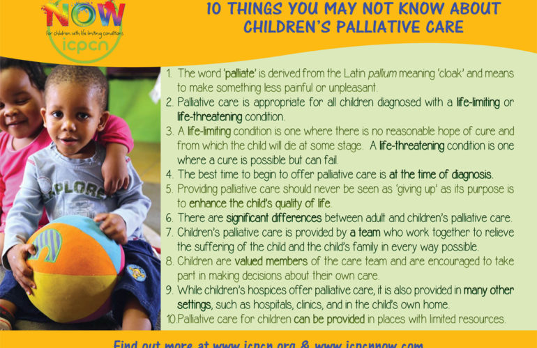 10 Things you may not know about children's palliative care