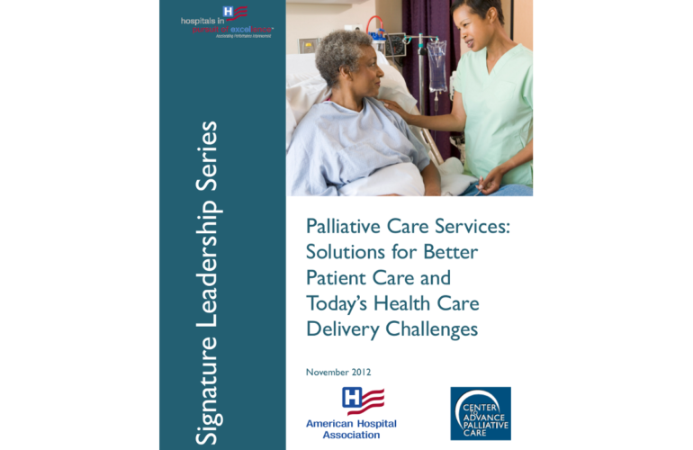 Palliative care services: solutions for better patient care
