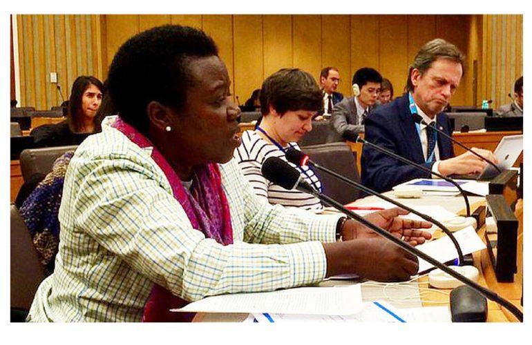 Ugandan nurse addresses UN on leadership in pain control