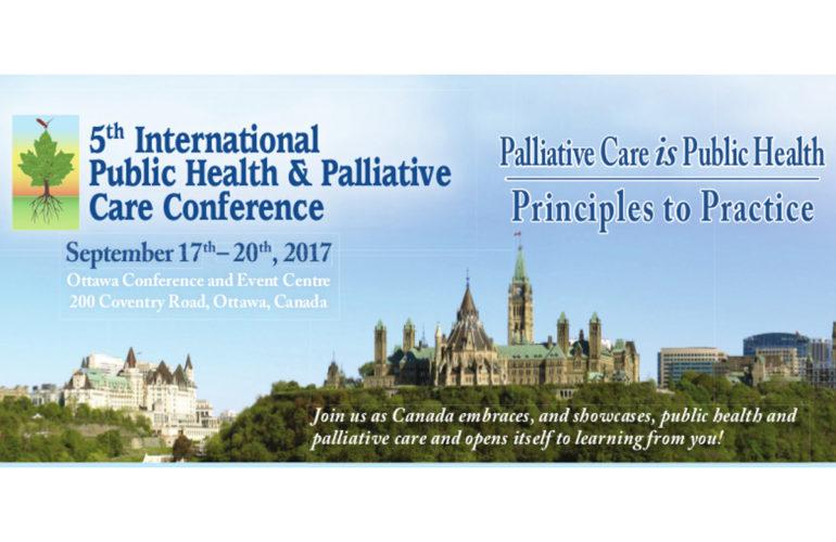 Palliative Care IS Public Health – 2017 International Public Health & Palliative Care Conference