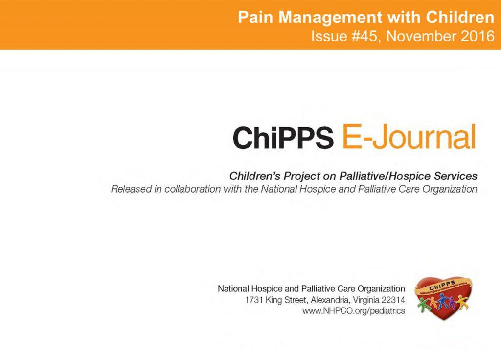 Latest ChiPPS E-Journal focuses on managing children's pain