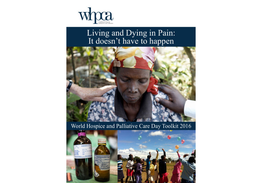 Living and dying in pain: it doesn't have to happen – World Hospice and Palliative Care Day 2016