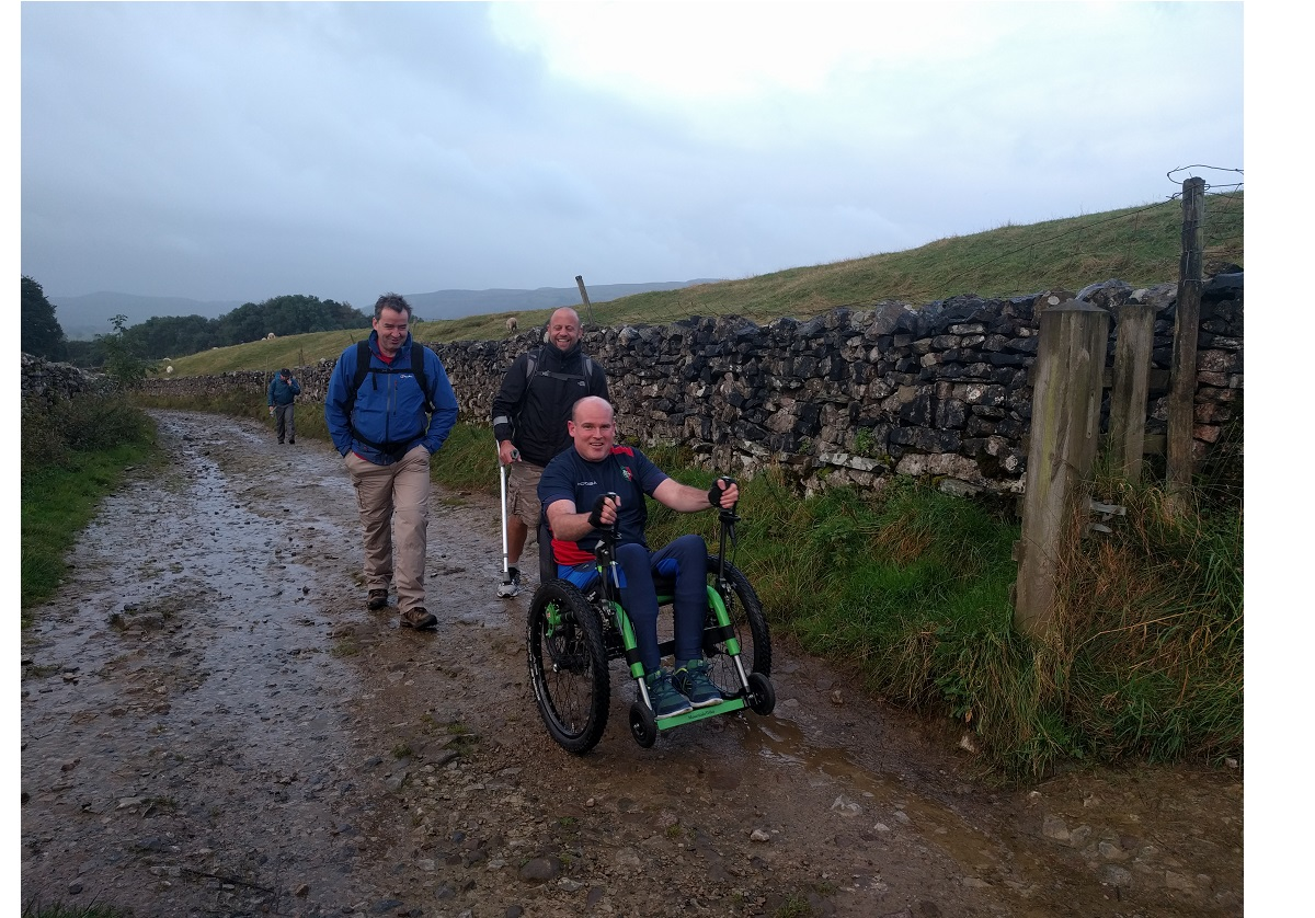 MND patient is first person to climb Yorkshire Three Peaks in a wheelchair