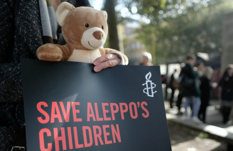 100,000 children living in fear for their lives in Aleppo