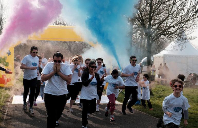 Richard House hosts colourful run