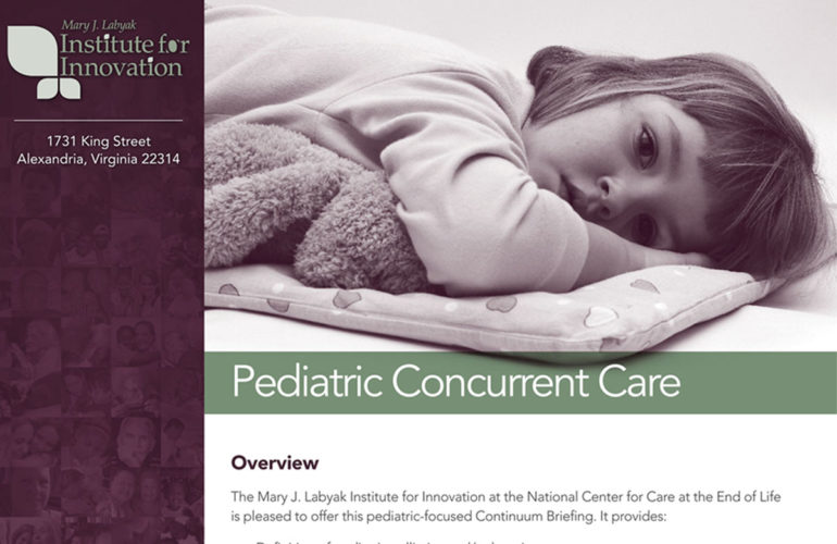 Report published on concurrent care for children in the U.S.A.