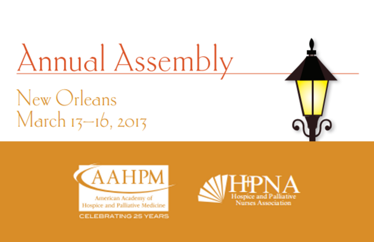 AAHPM Annual Assembly taking place 13 – 16 March 2013