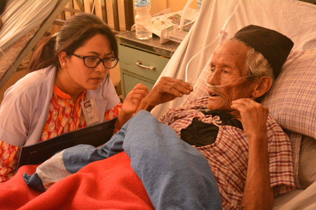Palliative care work by EMMS and partners in Nepal highlighted on Scottish news channel