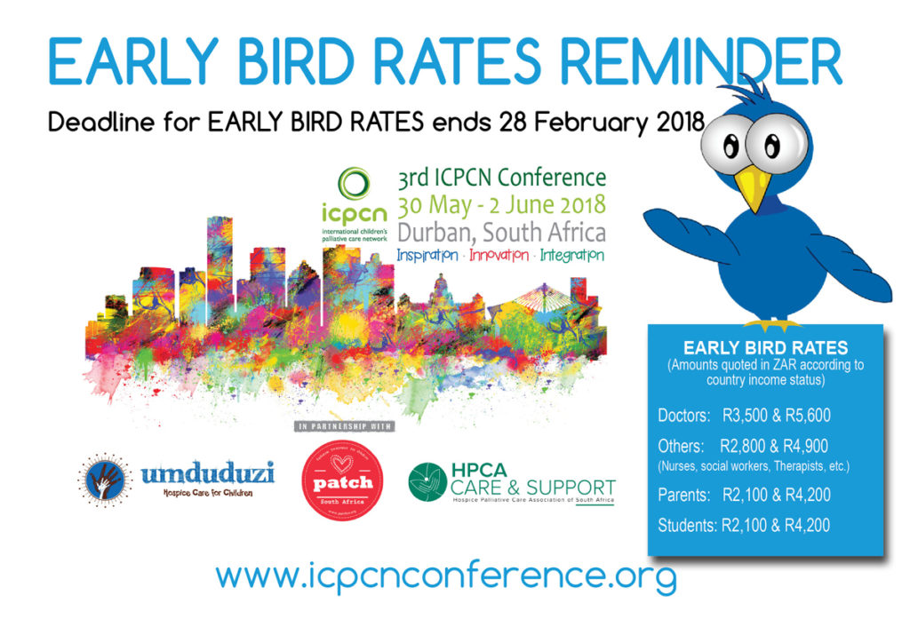 Time is running out to register at Early Bird rates for the 3rd ICPCN Conference