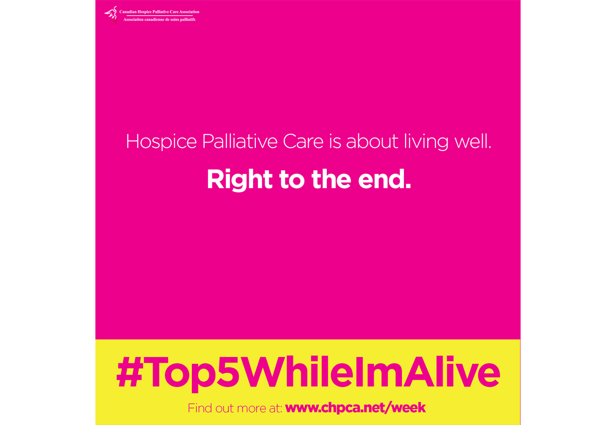 Palliative care is about living well, right to the end