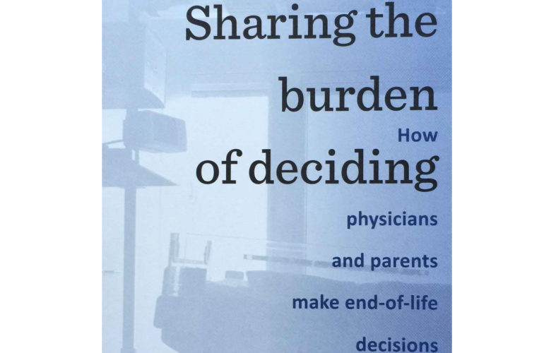 Sharing the burden of deciding near the end of a child's life