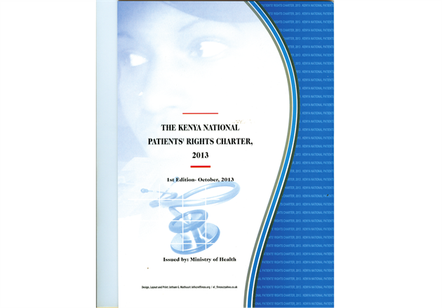 Ministry of Health launches the Kenya National Patients' Rights Charter