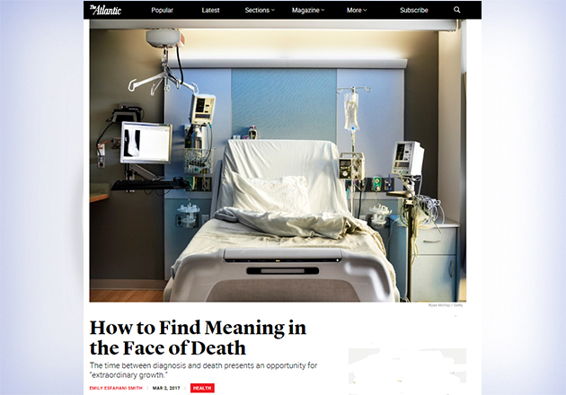 The Atlantic on finding meaning in the face of death