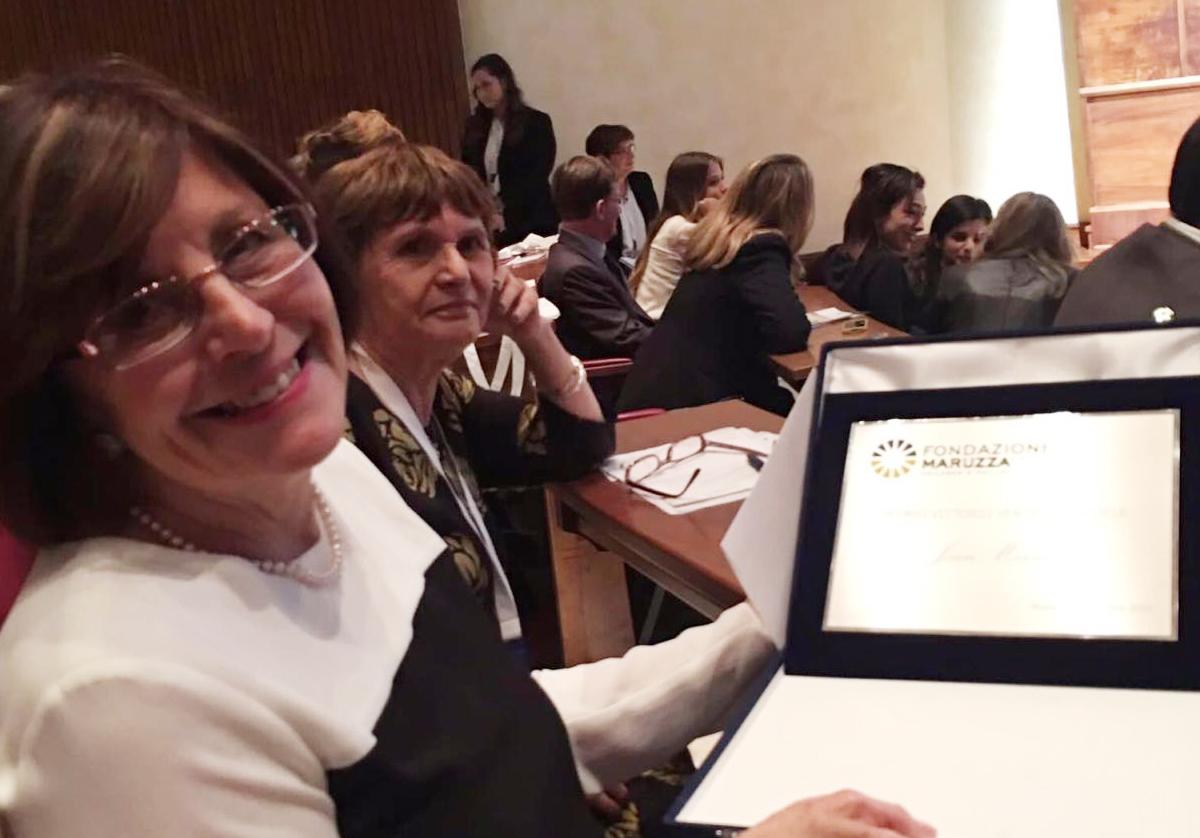 Joan Marston receives the 2016 Vittorio Ventafridda Award in Rome