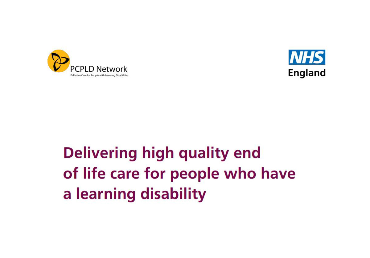 Delivering high quality end of life care for people with a learning disability