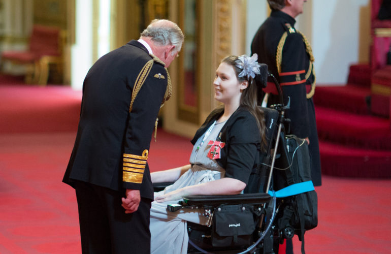 ICPCN Global Youth Ambassador awarded MBE by HRH Prince Charles at Buckingham Palace