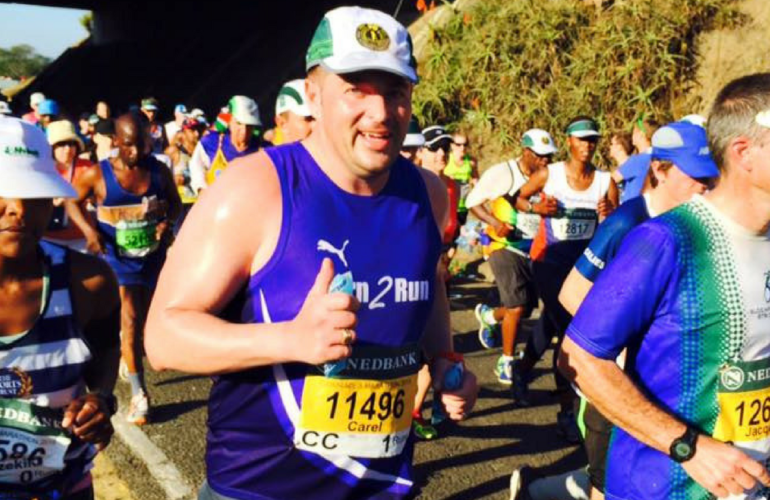 Running for hospice in the Comrades Marathon 2018