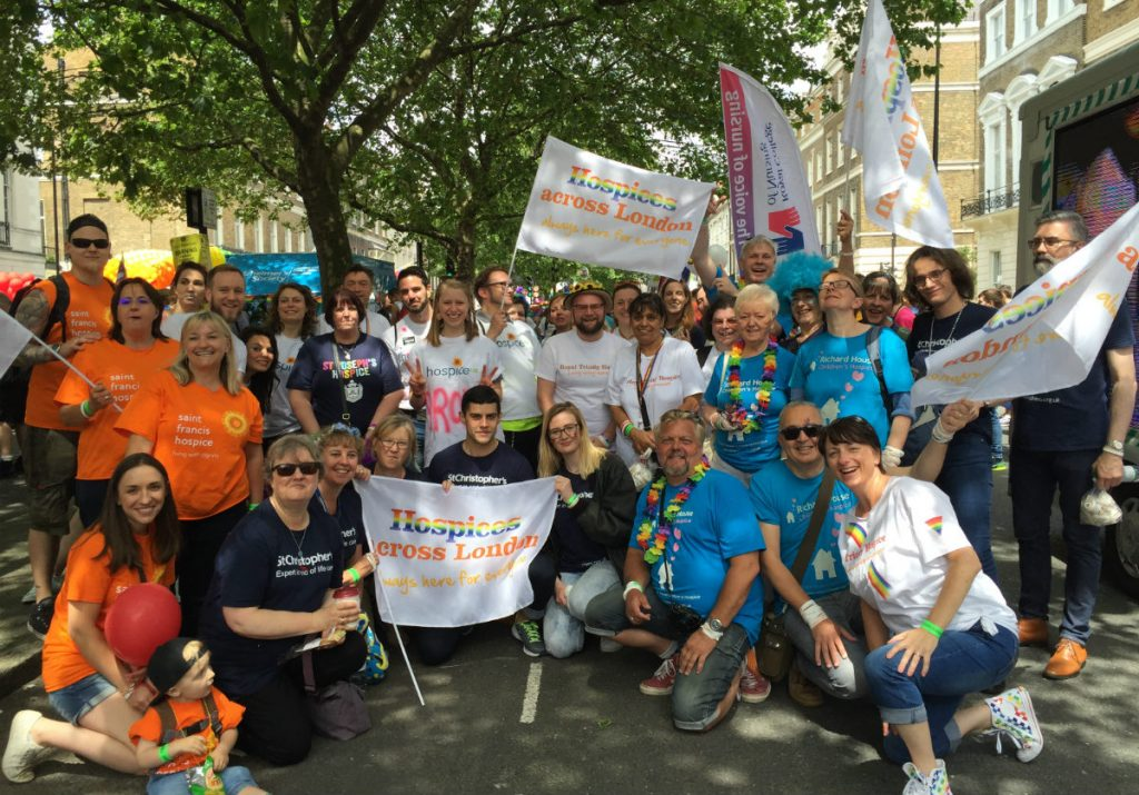 Hospices across London march in London LGBT Pride for the first time