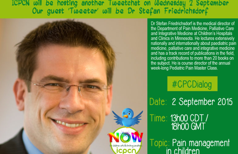 Next #CPCDialog tweetchat on children's palliative care: Wednesday 2 September