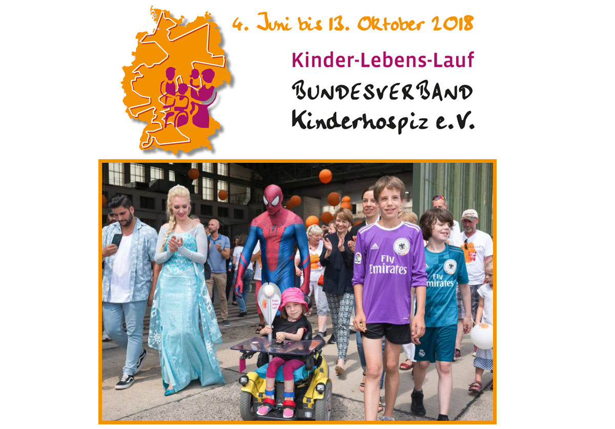 Thousands walk, run, ride and roll around Germany to raise awareness of children needing palliative care