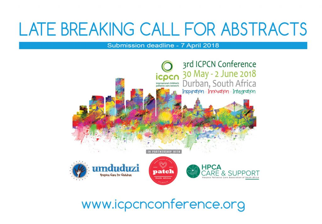 Scholarships and late breaking call for abstracts for 3rd ICPCN Conference in Durban