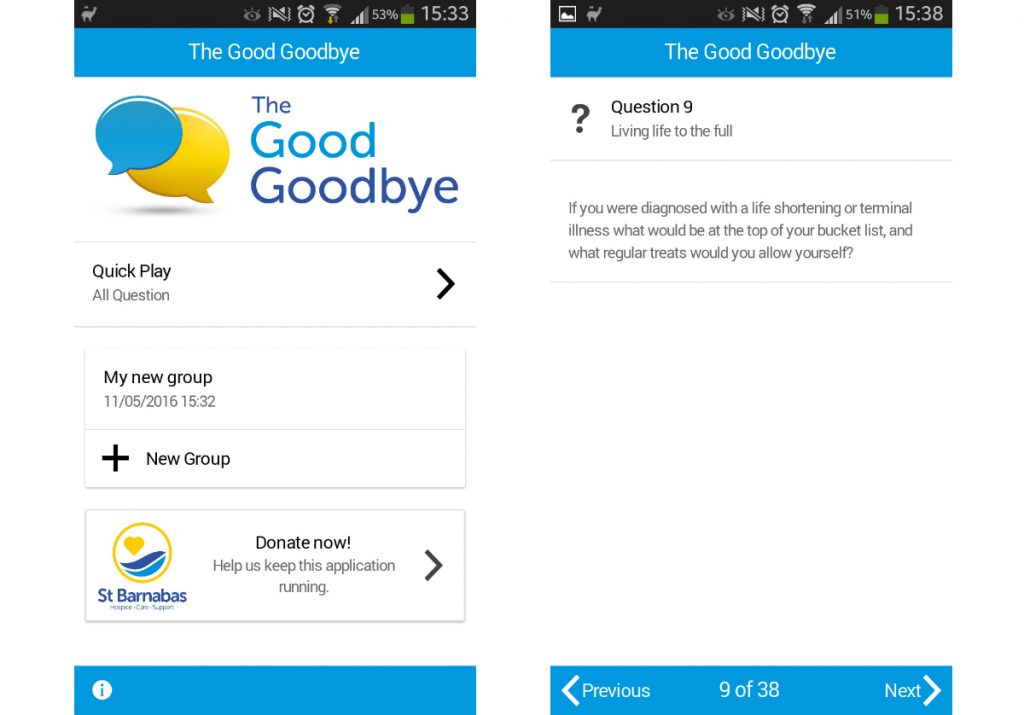 Hospice launches app to encourage conversations about dying, death and bereavement