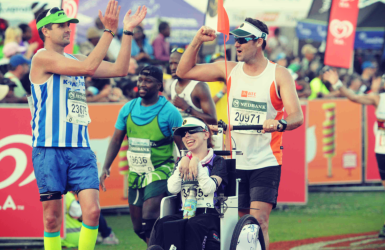 First  Wheelchair Athletes to Complete Comrades Marathon
