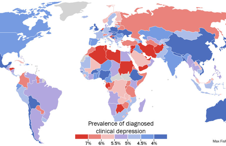 Africa has some of the highest depression rates in the world