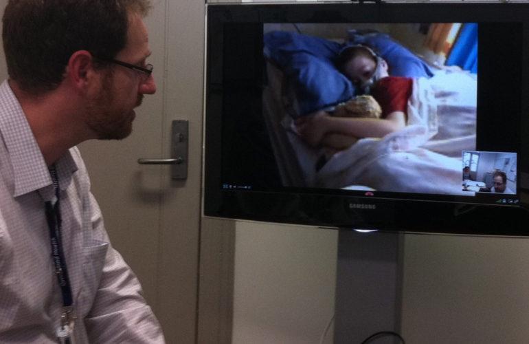"""""""Look Mama, the nurse is on TV!"""""""