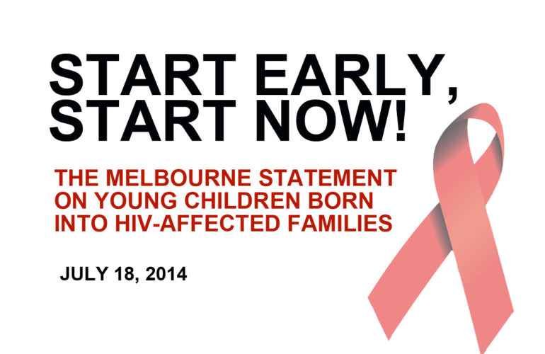 Start early, start now – improving outcomes for HIV+ children