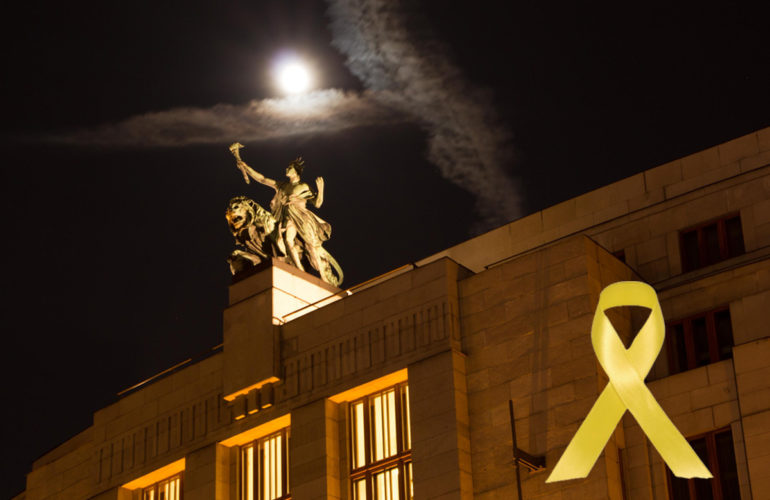 Buildings around the world are Going Gold for childhood cancer in September