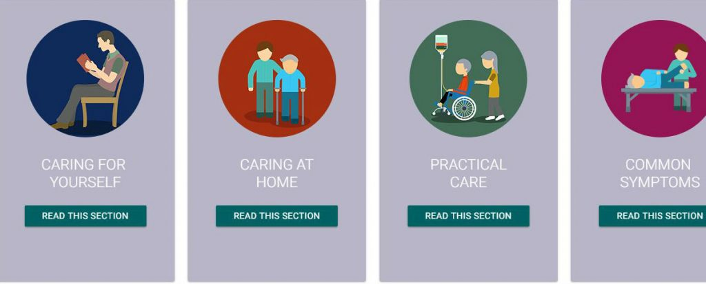 Website for people caring for those with palliative care needs