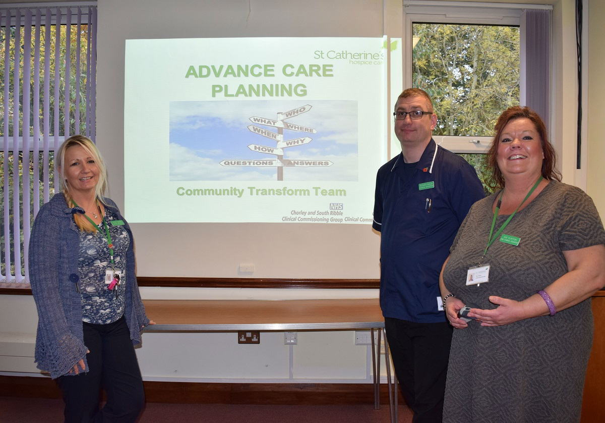 St Catherine's Hospice education programme improves end of life care in the community