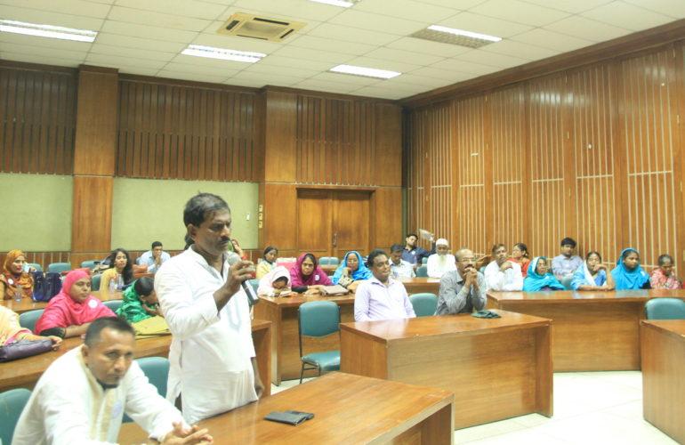 'Compassionate Korail' sensitisation meeting with community leaders in Korail slum, Bangladesh